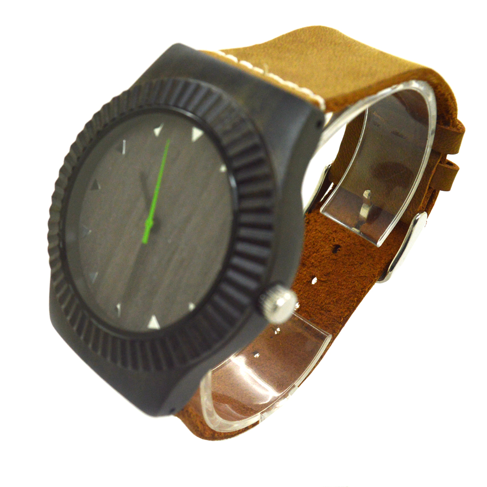 Retro vintage wooden watch for men natural handmade black font b sandal b font wood watches