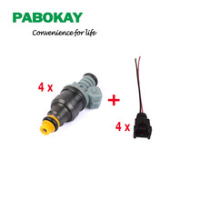 4 pieces x FS High performance 1600CC CNG 160lbs gas fuel injector with ev1 plugs 0280150842 0280150846