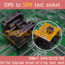 FLASH BIOS Online Upgrade brush writing test seat 208mil sop8 to socket soic8/so8/sop8