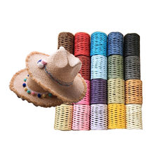 100% Raffia Straw Yarn Popular Summer Crochet Sun Hat Yarn for Handmade Handbags New Knitting Hat Yarn 200meters/roll(China)