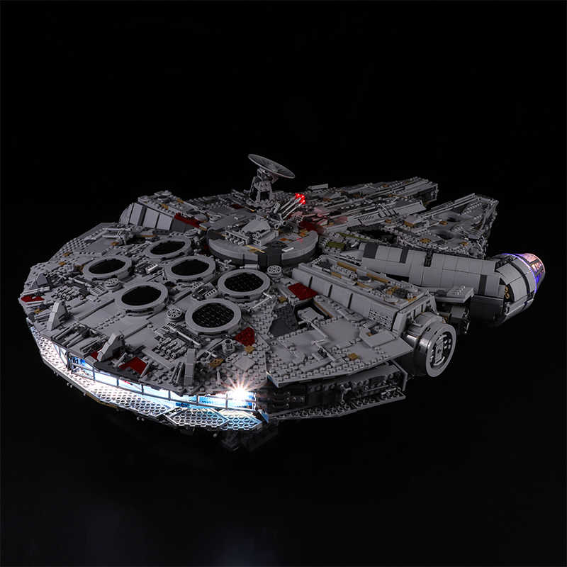 Zestaw oświetlenia LED do lego 75192 kompatybilny 05132 Star War Falcon Millennium budynku klocki klocki (nie obejmuje zestawu klocków)
