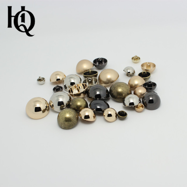 10mm, 11.5mm,15mm,18mm,20mm,23mm, 25mm gold , silver,gun-metal coated metal button mushroom style,sewing buttons free shipping