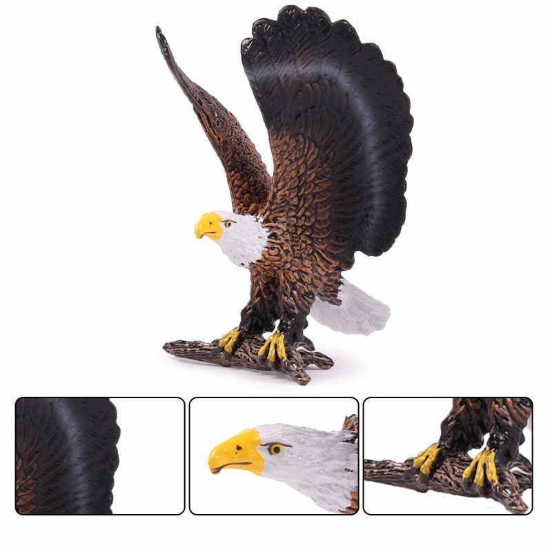 Oenux моделирование орла птица подвижная фигурка-модель домашний декор миниатюрный Сказочный Сад украшения фигурки из ПВХ игрушка для детей подарок