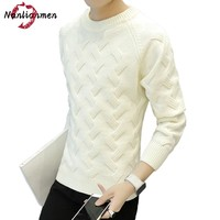 2017 Autumn Winter New Solid Sweater Men Wool Pull Sueter Hombre Knit Male Casual Pullover Sweater
