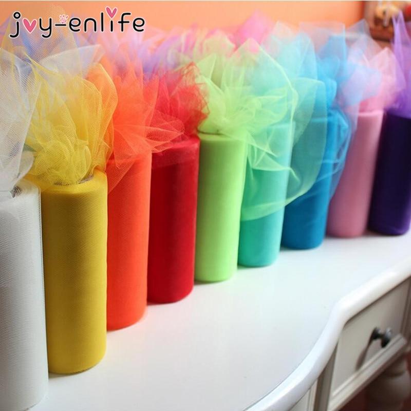 Joy Enlife 25yards Colorful 15cm Tulle Roll Diy Girls Tutu