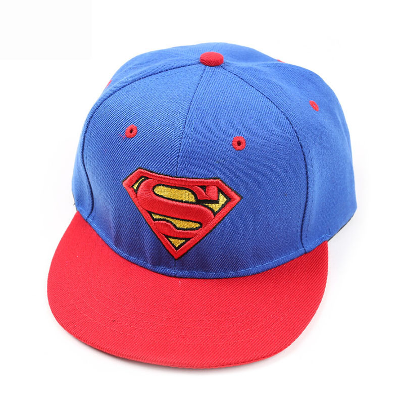 2018 New Children Snapback Hats Boys&Girls Superman Baseball Cap For Kids Cartoon Hip Hop Hat Adjustable Child Snapback Gorras cntang brand summer lace hat cotton baseball cap for women breathable mesh girls snapback hip hop fashion female caps adjustable