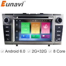 Eunavi Octa core 2 DIN Android 6.0 dvd-плеер автомобиля для Toyota Avensis 2008-2013 радио стерео Штатная мультимедиа gps-навигация