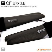 T-motor 27*8.8″ Carbon Fiber Propeller CW/CCW( 4-blades )PROPS for UAV
