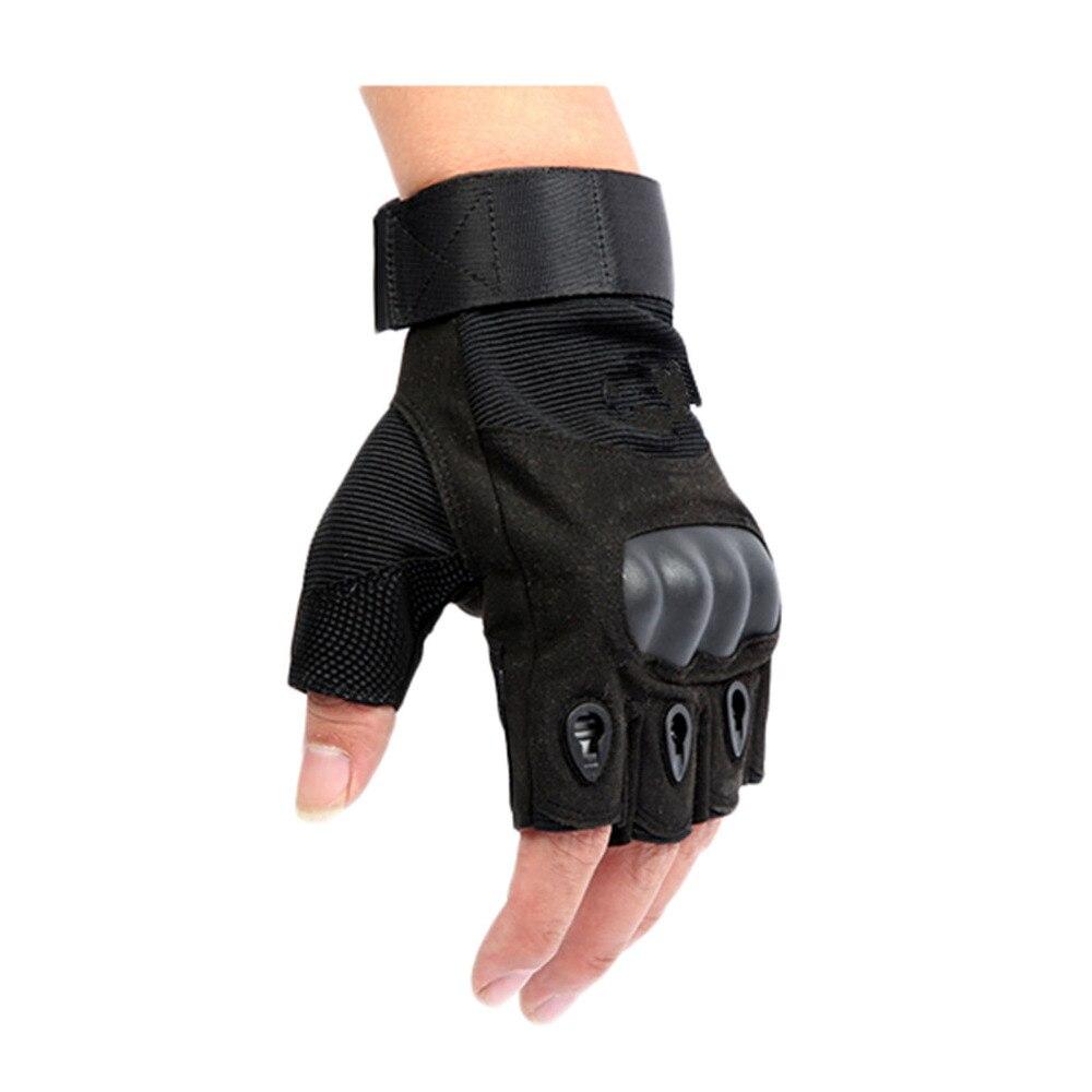 Compra sin dedos guantes de cuero de los hombres online al