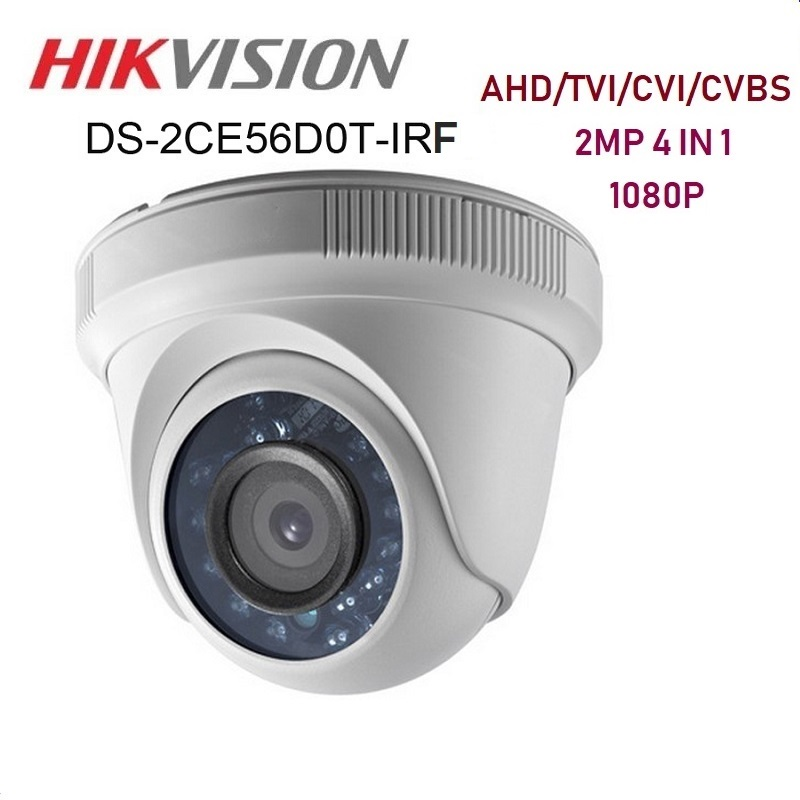 HIKVISION English Version DS 2CE56D0T IRF CVBS/AHD/CTV/TVI HD Camera 1080P 2MP With IR Day/night Security Video Surveillance