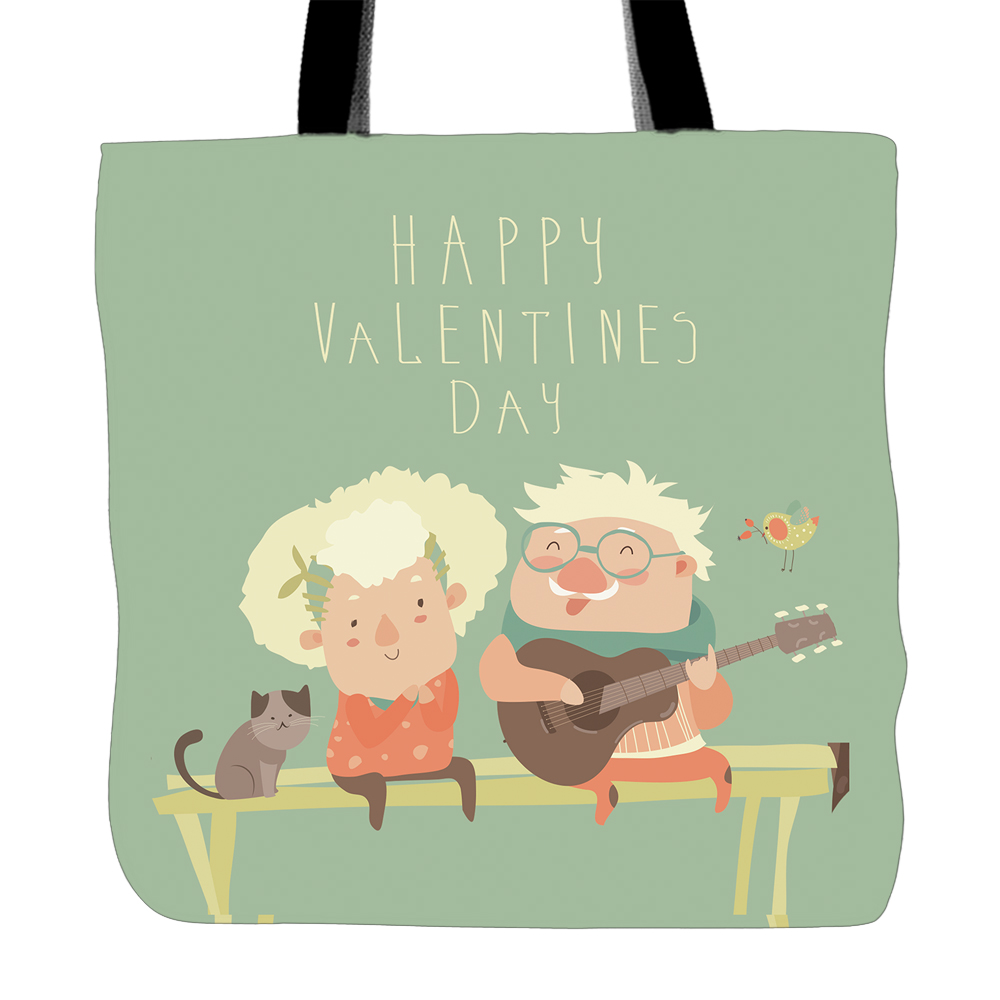Hy Valentine S Day Cute Tote Bags Double Sided Printing Canvas Handle Ping Bag For In Top From Luggage On