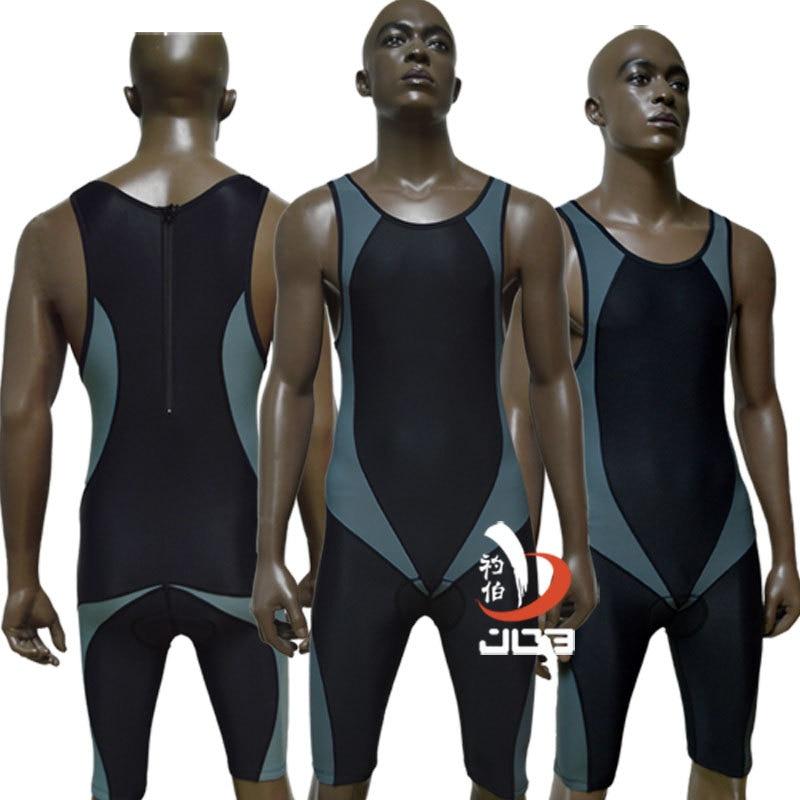 JOB 2017 Pánské triatlonové obleky páté délky jednodílné neoprénové kombinézu Profesionální sportovní oblečení Plavky