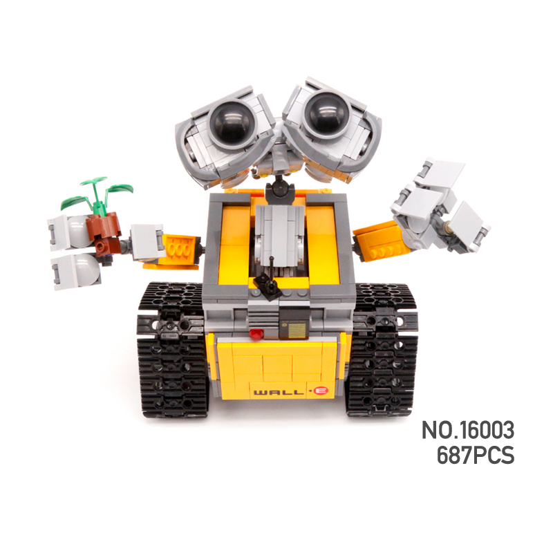 все цены на Hot Classic movie WALL-E smart Robot building block android model bricks 21303 toys collection for children gifts