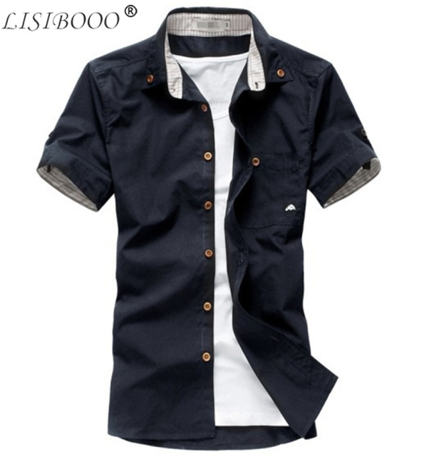 New Arrival Men Casual Shirt Small Mushroom Mens Short Sleeved Shirt Mens Slim Fit Dress Shirt Mens Stripe Dress Shirts