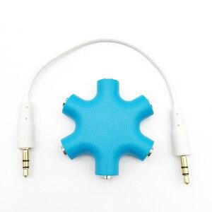 3,5 мм аудио разъем 1 папа к 1 2 3 4 5 порт Aux музыка звук выход адаптер аудио сплиттер