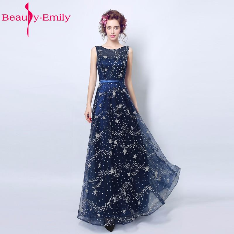 Vestidos de noche Largo Dark blue dinner party stage performance host long prom dress 2017 Long Evening Dresses Party Dress