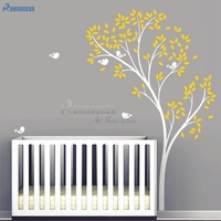 Vinyl Nursery Tree Wall Sticker for Kids Room Mural Adhesive Modern Wall Decals Wall Stickers Home Decoration DIY T 07