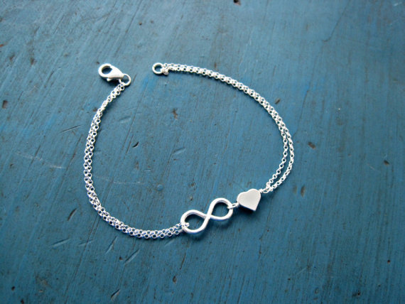 2015 New Fashion Unique heart Nice Sexy Simple Lucky 8 Silver Plating Chain Anklet Ankle Bracelet Foot Jewelry