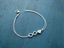 2015 nueva moda único del corazón de niza Sexy Simple suerte 8 plata de la galjanoplastia cadena tobillera pulsera de tobillo del pie de la joyería