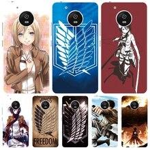 Ataque No logotipo Titan anime japonês da tampa do caso para Motorola Moto G5 G4 JOGAR MAIS ZUK Z2 BQ M5.0