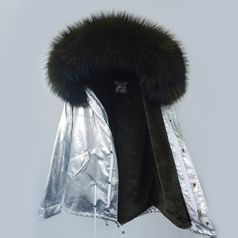 Fur De Laveur Fur Green Nouveau 2018 Marque Manteau White Raton Parkas Maomaokong Hiver Femmes Btips black Fur dark Fourrure Drop pink Shipping Épais Fur Col Veste skyblue blue Capot Réel Fur 7wxqWn