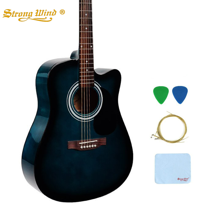 7353bde8f8 Strong Wind 41 Inch Acoustic Guitar Folk Bass 6 Steel Strings Kit Closed  Knob Guitarras Professional Kids Beginners Unisex Use-in Guitar from Sports  ...