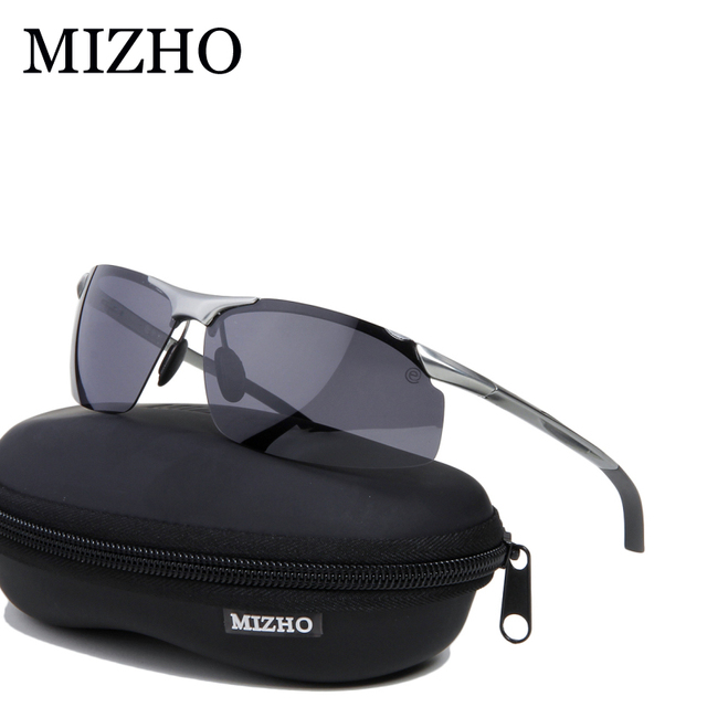 465598ce48 MIZHO Anti-glare Hard Light Aluminium Magnesium Sunglass Polaroid HD 2017 Sports  Sunglasses Polarized Men Night Vision Driving