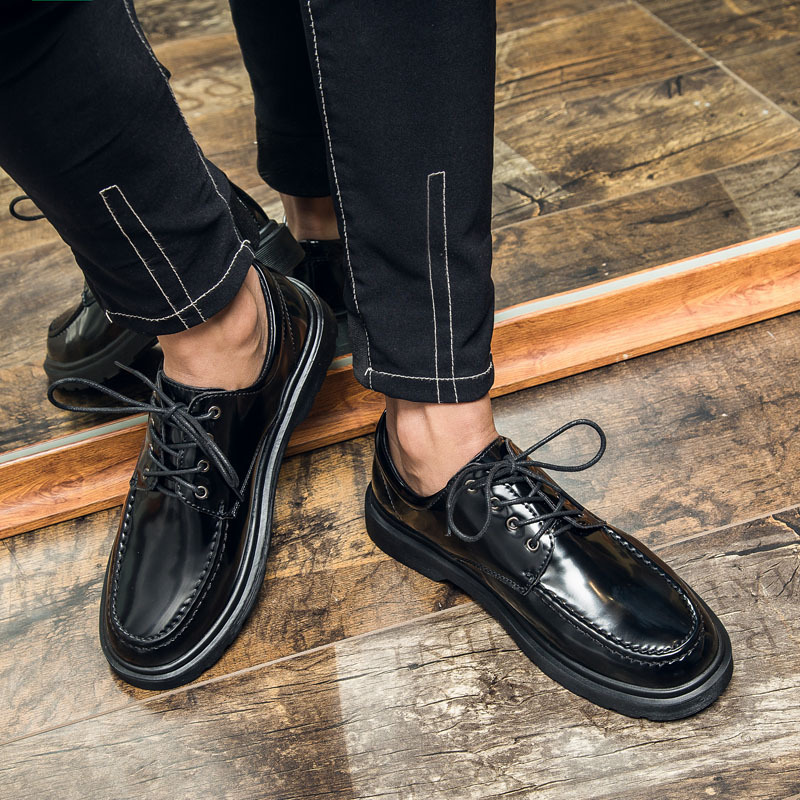 Fashion Men Dress Shoes Men's Lace-up Breathable Wear-resisting Leather Shoes Casual Men Shoes Hombres Zatapos Plus Size 38-48 high quality genuine leather men shoes men s lace up breathable casual shoes vintage fashion men leather shoes plus size 37 47