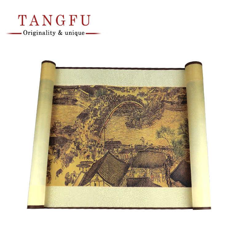 Tangfoo Anicent 中国テープ有名な絵画書道ヴィンテージオフィス文具テープ DIY プランナー日記-スクラップブックマスキングテープ