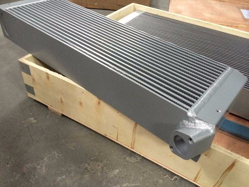 WJIER screw air compressor plate fin aluminum radiator oil cooler air cooler air cooled 2202815602 ss3001 12 4 12sqm and 4mm fin spacing without heater air cooler