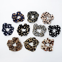 Leopard Printed Women Hair Accessories Ladies Hair Tie Striped Lady Scrunchies Ponytail Hair Female Girl Holder Rope Bands Hair Accessories