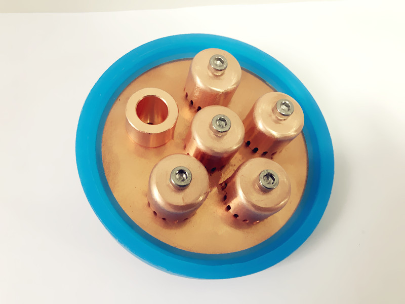 Free Shipping 4 OD102mm High Quality Red Copper Bubble Plate Set With Special Gasket