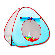 Children Tent Toys Game Pool Game House Outdoor Ocean Ball Pool Folding Portable Play Tent For Kids Not Including the Ball A516 недорого