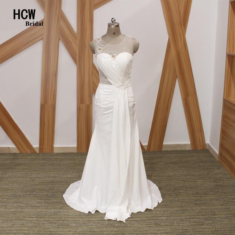 Бяла русалка официална дълга вечерна рокля Вижте през задни перли еластичен сатен арабски вечерни рокли рокли Де Соари