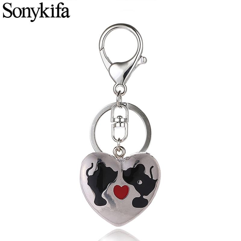 Sonykifa Cute Mickey Minnie Crystal Rhinestone Metal Bag Pendant Pandoro Key Chains Holder Women Keyrings Keychains For Car