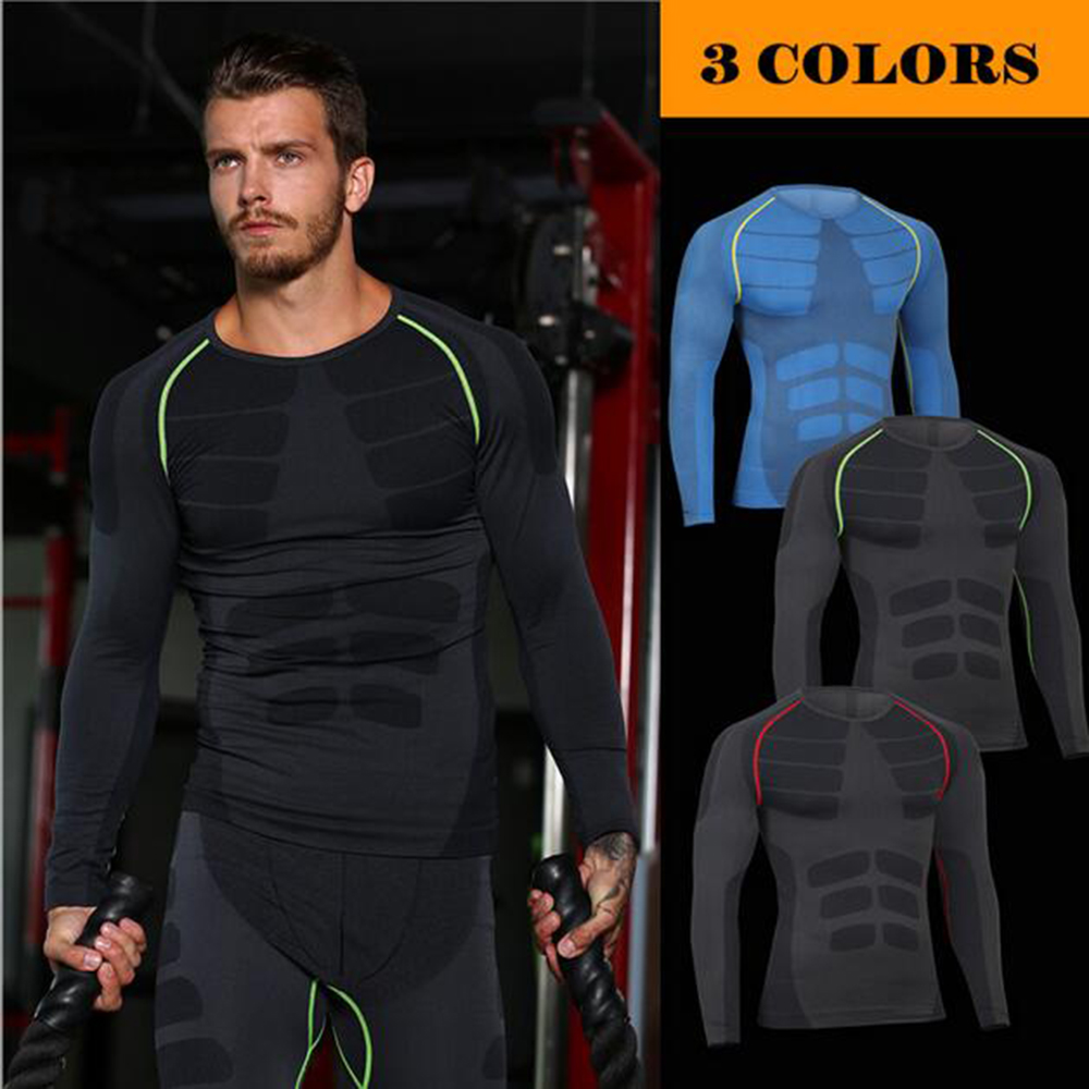 Realistic Mascube Mens Sports Tops Quick Dry Running Fitness Training Compression Shirts Tight Baselayer Long Sleeve Workout Basketball Waterproof Sports Clothing Shock-Resistant And Antimagnetic Running T-shirts