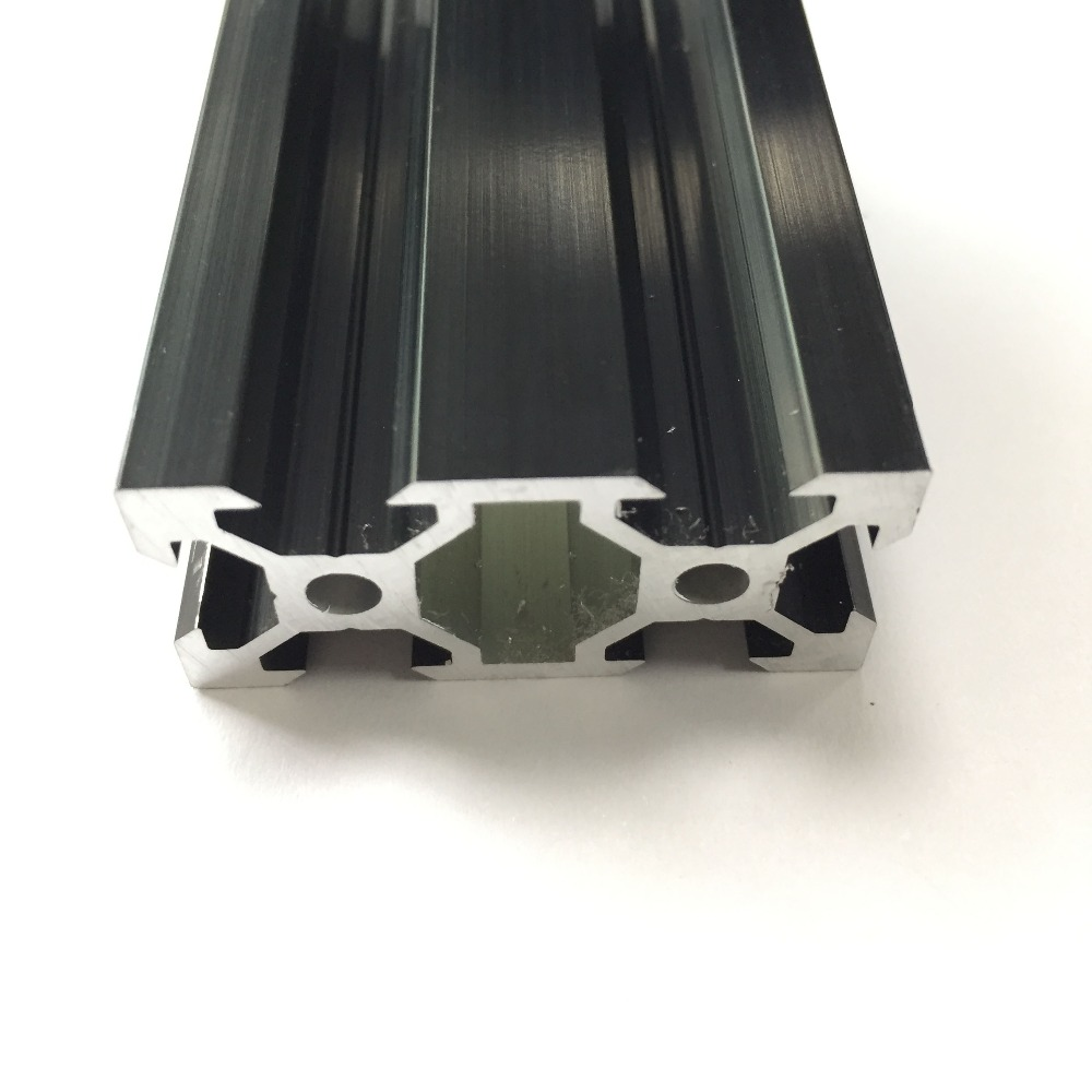 Black colour Industrial CNC 3D Print Machine Workbench Linear Rail Aluminum Profile Extrusion <font><b>V</b></font> <font><b>slot</b></font> <font><b>2040</b></font> series image