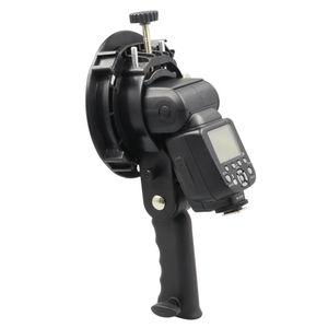 Image 3 - Uchwyt typu S uchwyt Bowens S uchwyt do lampy błyskowej Speedlite akcesoria do studia fotograficznego Snoot Softbox parasol uchwyt do mocowania Bowens