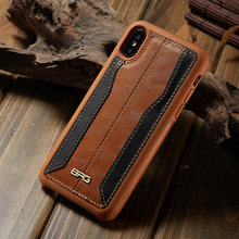 Mashup Color mixing PU Leather Hybrid Silicone TPU Cover Holster Case For Apple iPhone X XR 8 7 6 Plus 5S SE Samsung S9 S9+ Plus(China)