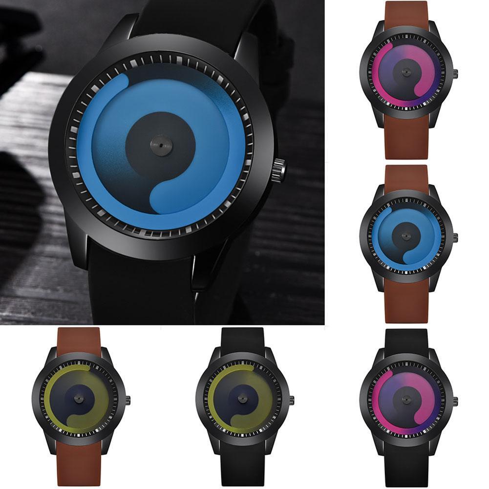 Creative Women Men Gradient Flow Analog Round Dial Quartz Wrist Watch Lover Gift Creative Women Men Gradient Flow Analog Round Dial Quartz Wrist Watch Lover Gift