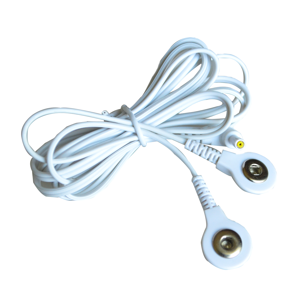 Wholesale 100Pcs/Lot Electrode Lead Wires Plug 2.35mm Connecting Cables with 2 Buttons For TENS 7000 Electronic Therapy Machines 100pairs lot 3 5mm snap tens electrode lead wires connecting cables plug 2 5mm use for connect tens ems massager machine device