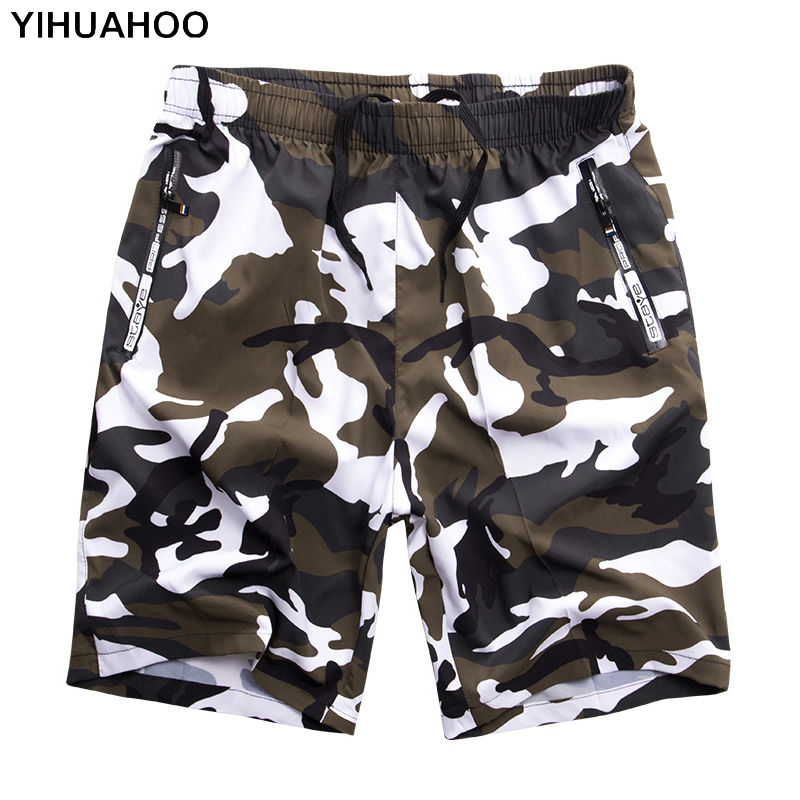 YIHUAHOO Casual Summer Shorts Men Plus Size 6XL 7XL 8XL Bermuda Board Camouflage Beach Shorts Printed Punk Mens Short Pants