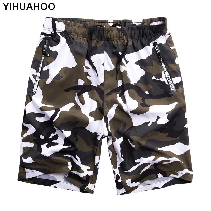 YIHUAHOO Casual Summer Shorts Men Plus Size 6XL 7XL 8XL Bermuda Board Camouflage Beach Shorts Printed Punk Mens Short Pants