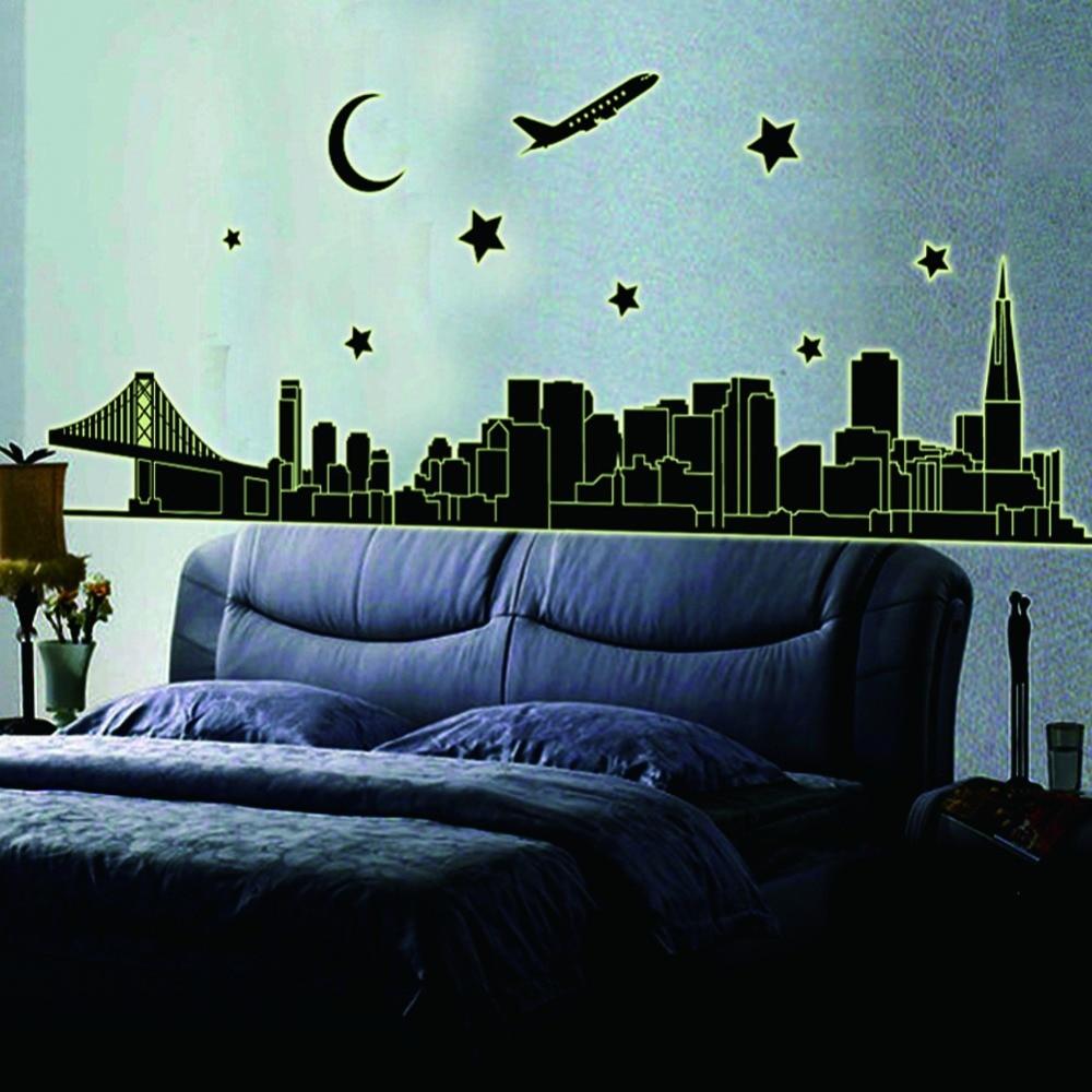 Hot Sale 2017 Fluorescent city Luminous Living Room