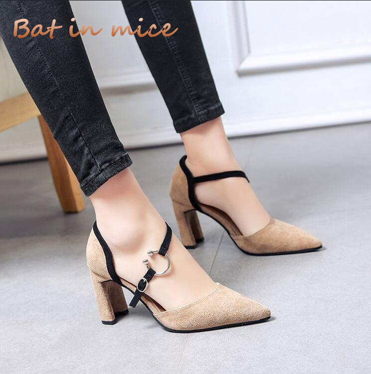 2018 New Fashion High Heels Newest Women Pumps Summer Women Shoes Thick Heel Pumps Comfortable Shoes Woman Platform Shoes C407 women s shoes 2017 summer new fashion footwear women s air network flat shoes breathable comfortable casual shoes jdt103