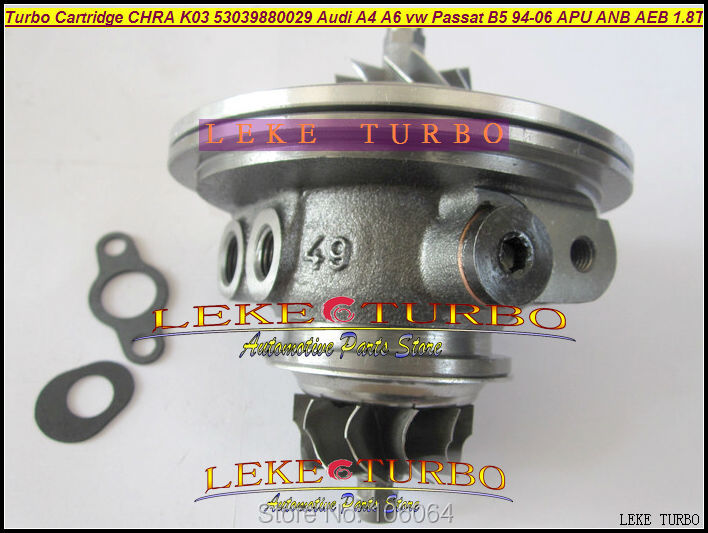 Turbo cartridge chra K03 53039880005 53039700005 53039700022 53039880022 058145703L For Audi A4 A6 B5 C5 Passat AEB AJL AJH 1.8T k03 turbocharger core cartridge 53039700029 53039880029 turbo chra for audi a4 a6 vw passat b5 1 8l 1994 06 bfb apu anb aeb 1 8t