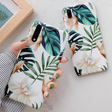 Vintage Art Flower Banana Leaves Phone Cases For Huawei P20 P30 Pro P20 P30 Lite Mate 20 Pro Soft IMD Full Body Back Covers Capa(China)