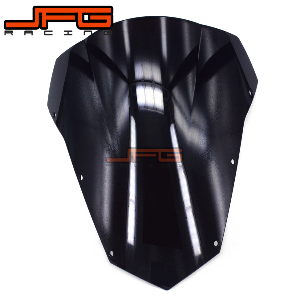 Black Windscreen Windshield for Yamaha FZ6 FZ-6 FAZER 2003-2008 2003 2004 2005 2006 2007 2008 aftermarket free shipping motorcycle parts eliminator tidy tail for 2006 2007 2008 fz6 fazer 2007 2008b lack