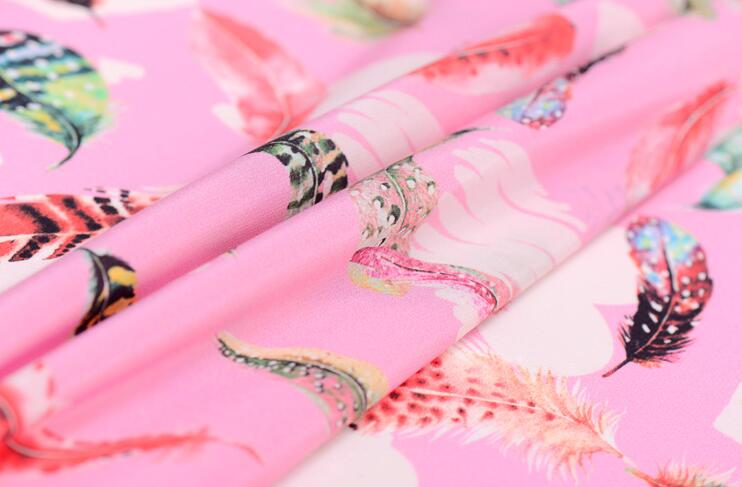 double crepe Digital Inkjet Silk fabric dresses tissu au metre print satin chiffon fabric telas por metros textiles C076 in Fabric from Home Garden