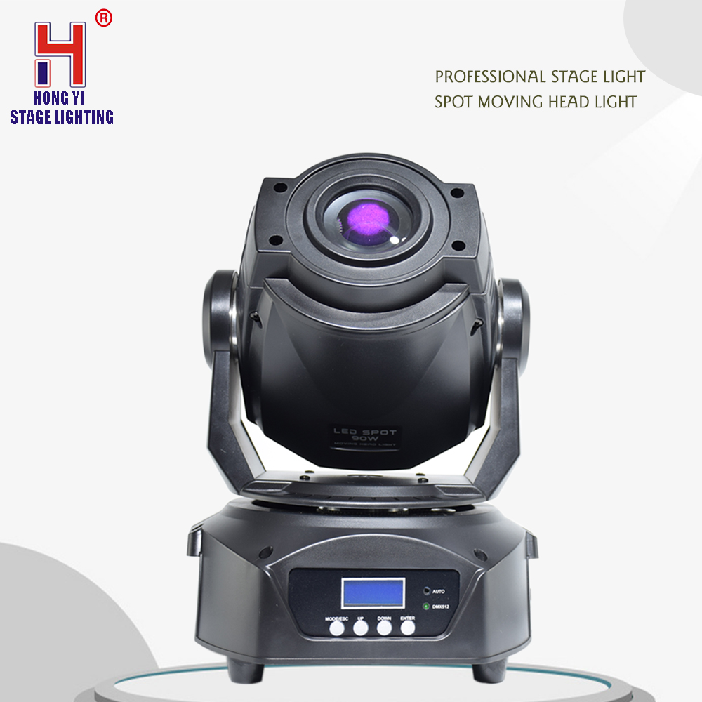 LED 90W Moving Head Spot Stage Lighting DMX 512 Control Gobo Led Disco DJ Party Light With 3 Face PrismLED 90W Moving Head Spot Stage Lighting DMX 512 Control Gobo Led Disco DJ Party Light With 3 Face Prism